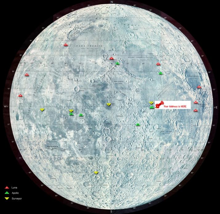 Nasa Image : Landing Map