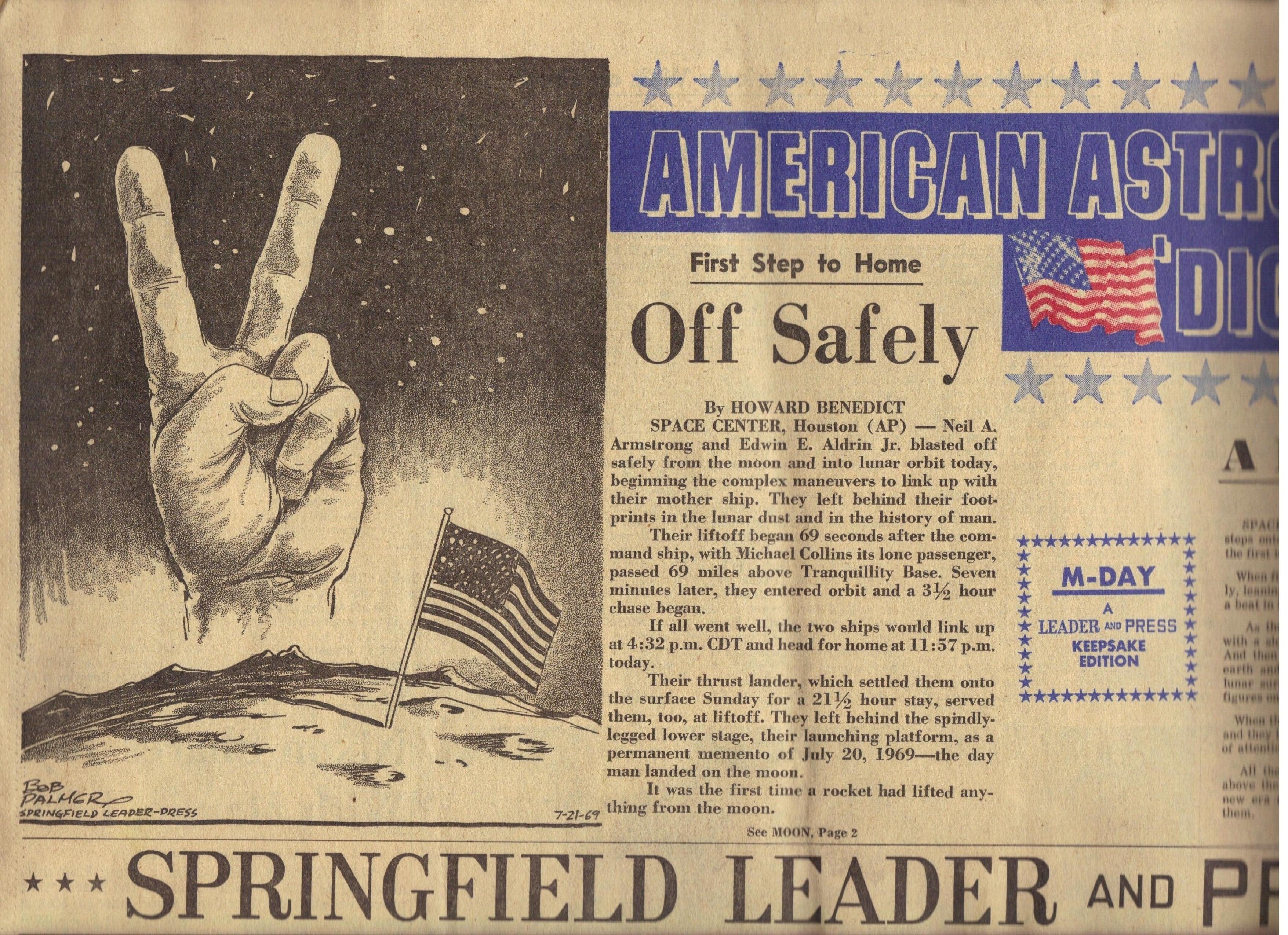 On July 20, 1969, Apollo 11 astronaut Neil Armstrong, is ...  |Huntsville Newspaper Moon Landing