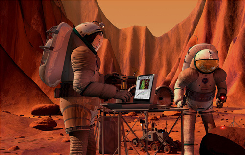working at mars